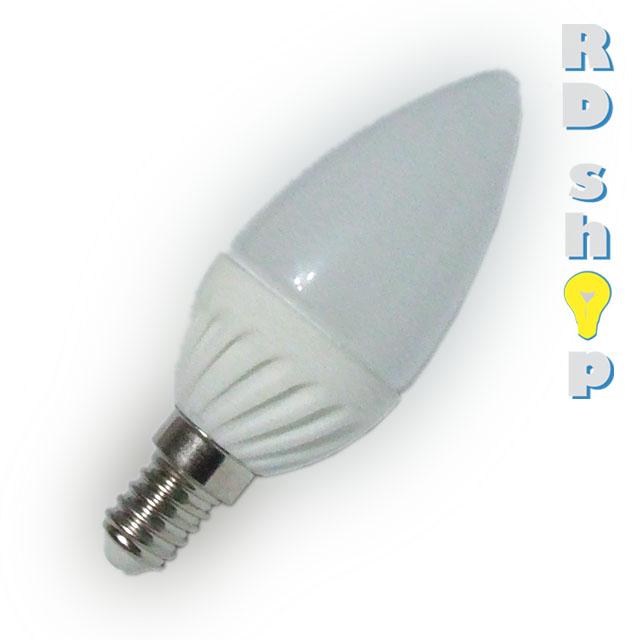 EPISTAR LED žárovka E14, 3W, 230V studená bílá