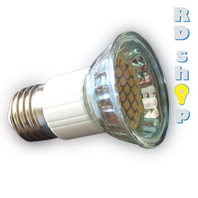 LED žárovka E27 SMD 30 3528 230V 1,5W teplá bílá