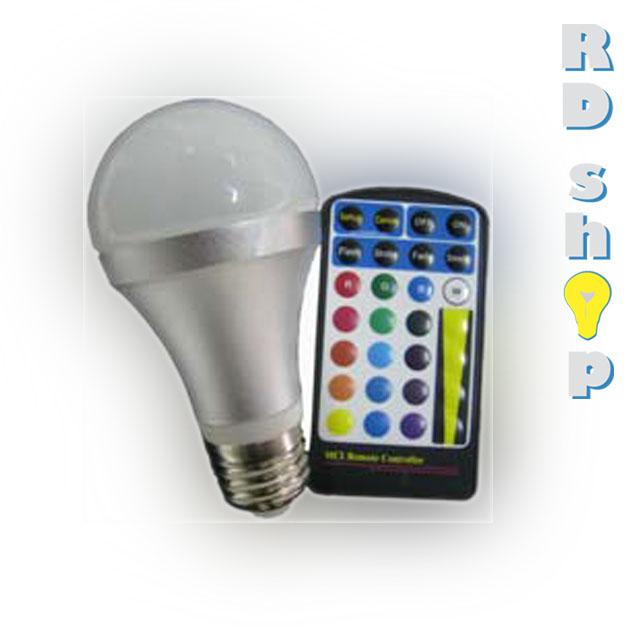 LED žárovka E27 s RGB s dálkovým ovladačem