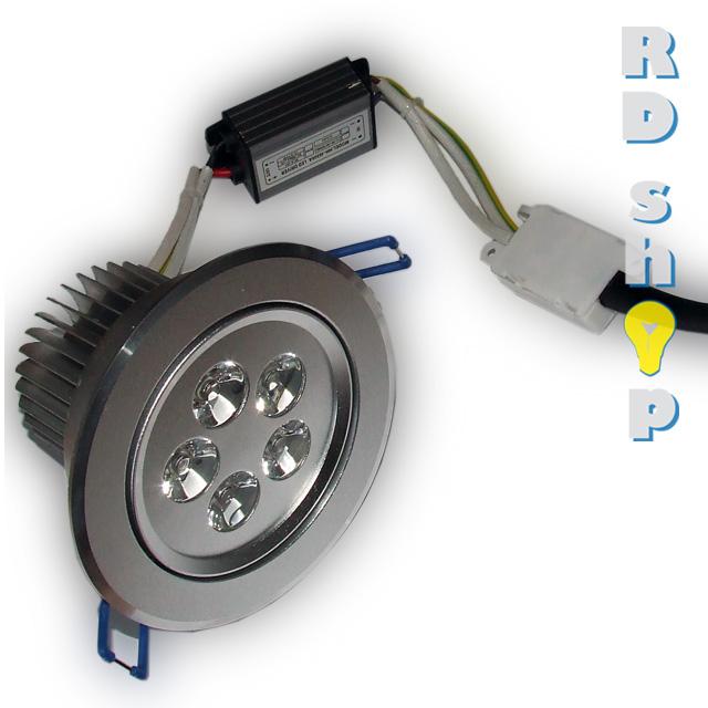 LED bodovka stropní SMD 230V 5W studená bílá