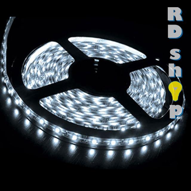 LED pásek 5050 30 LED/m 12V 7,2W studená bílá - 10 cm