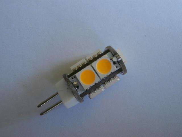 LED žárovka G4 SMD 5050 9 1,5W 12V teplá bílá