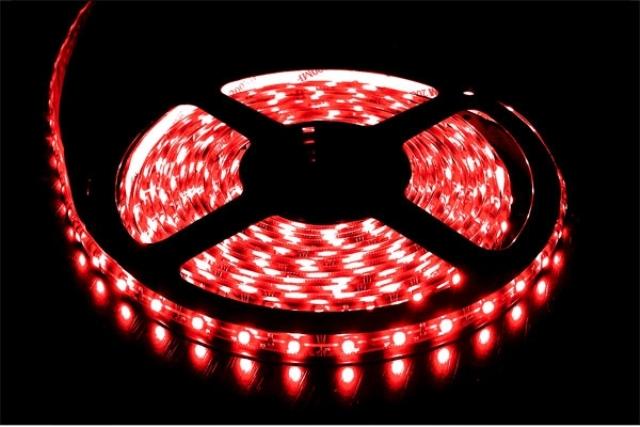 LED pásek 3528 60 LED/m voděodolná 12V 4,8W červená, 5 cm