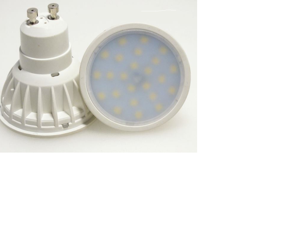 LED žárovka GU10 SMD 60 3528 230V 5W studená bílá
