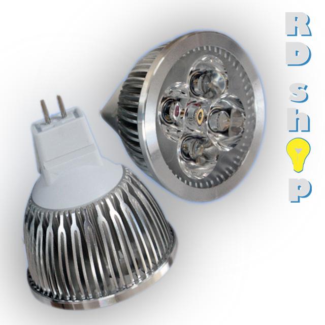 LED žárovka MR16 SMD 12V 4W studená bílá power