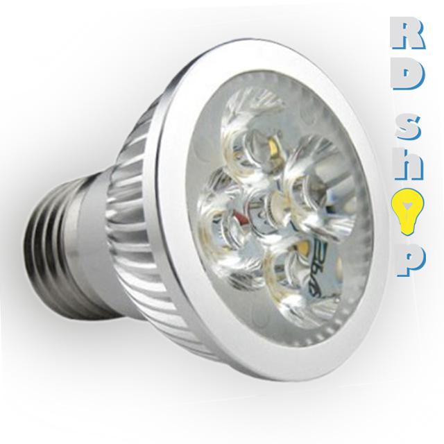 LED žárovka E27 SMD 230V 4W studená bílá power
