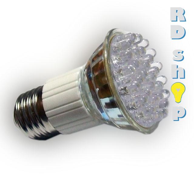 LED žárovka E27 DIP 30 3528 230V 1,5W teplá bílá