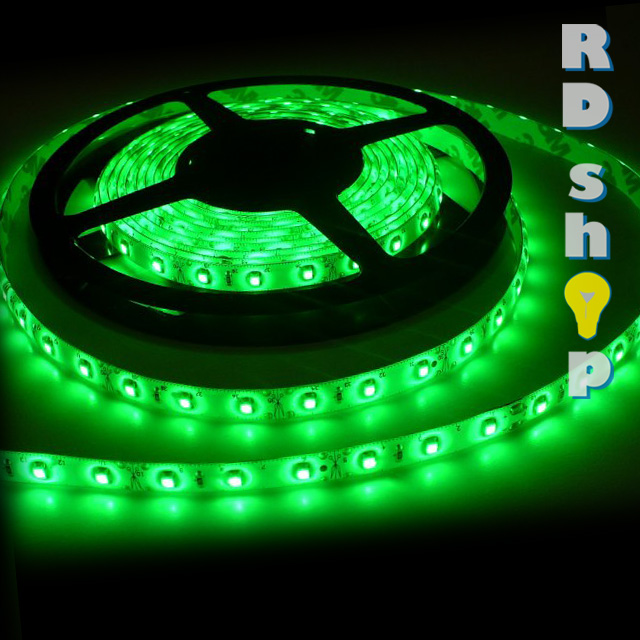 LED pásek 3528 60 LED/m voděodolná 12V 4,8W zelená, 5 cm