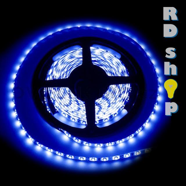 LED pásek 5050 60 LED/m voděodolná 12V 14,4W modrá, 5 cm